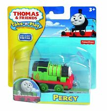 TAKE n PLAY Die-Cast PERCY Metal Thomas Tank Engine Fisher Price Along