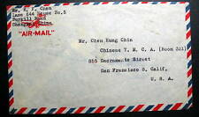 CHINA AIR MAIL COVER SHANGHAI  1947 TO SAN FRANCISCO CAL US