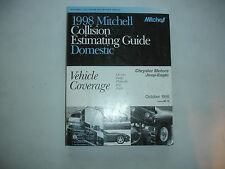 1998 Mitchell Dodge Chrysler Jeep Plymouth Collision Estimating Manual Guide VGC