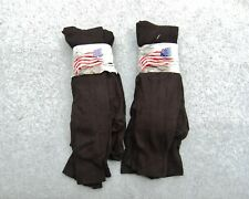 Military DSCP Socks 6 Pairs Black Dress/ Liner 78% Polyester 20% Stretch Nylon M