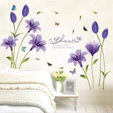 De Del Púrpura Dormitorio Decorativas Calcomanías Pared gf7b6yY
