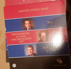 2016 P & D Mint Issued 6 Coin Presidential Set Low Mintage No Reserve