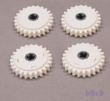 LEGO Technik - 4 x Zahnrad mit Rutschkupplung 24 Zähne, weiss / 60c01 NEUWARE