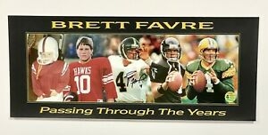 Brett Favre Signed 7.5x18 Panoramic Photo Packers Autographed Favre COA and Holo