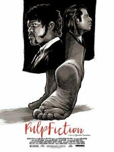 Pulp Fiction Limitierte Siebdruck Kunst Film Poster 150 45.7cm x 61cm