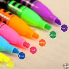 Fluorescent Star Creative Highlighter Writer Pen Marker Text Book Liner Random