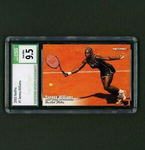 2003 NetPro Serena Williams #1 Base Rookie RC CSG 9.5 Gem Mint