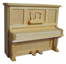 1:12 Dolls House  UPRIGHT PIANO bare wood BEF086