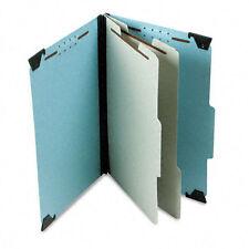 """Pendaflex 2"""" Expansion Pressboard Hanging Folder, Legal, Six-Section, Blue"""