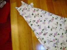 Bill Levkoff maxi summer dress lilac print white cotton straps sz 10 lined