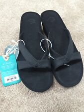 Old Kai Ohana Women's Wedge Flip Flops Sandals Black Size 10 Retail $95