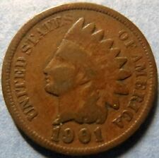 *1901  INDIAN  HEAD  BRONZE  PENNY, Nice Details Philadelphia Mint Coin  #3