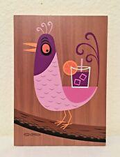 SDCC 2018 - SHAG Josh Agle - TIKI BIRD Wood Print - NEGRONI BIRD ONLY -LE 31/200