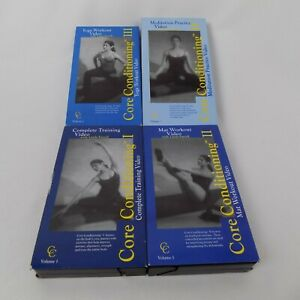Core Conditioning Set of 4 Exercise Training Meditation Videos VHS Stamina