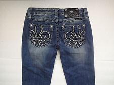 NWT Miss Me Fleur de Lis Signature Boot Cut Jeans Size 25