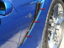 Corvette Stingray Side Vent Mesh Grille Overlay 6Pc Front Polished 2014-2017 C7