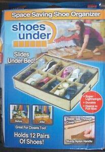 SHOE STORAGE FITS UNDER THE BED--BNIB