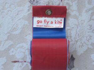 Vintage 1990's Go Fly A Kite 5 Strand Streamers Nylon Red Blue White Red Blue
