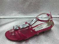 Russell & Bromley Sz 38 5 Pink Patent Leather Crystal Gladiator Sandals Womens