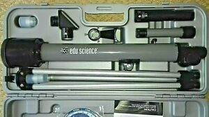 EDU SCIENCE STAR TRACKER TELESCOPE 30X  60X . 50MM GROUND GLASS AND OPTICAL LENS