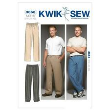 Kwik sew sewing pattern men's pantalon taille s-xxl K3663