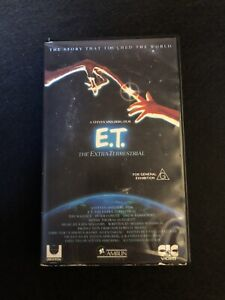 E.T. The Extra Terrestrial VHS Video Et
