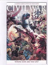 CIVIL WAR #7 / MICHAEL TURNER COLOR VARIANT / CAPTAIN AMERICA / IRON MAN / THOR