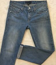 JUICY COUTURE Junior's Distressed Blue Jean Capri Pants Size 24 Made In USA CUTE