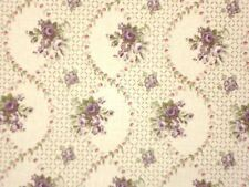 1.75 YDS Laura Ashley LILABET PLUM English Country Floral Cotton Drapery Fabric