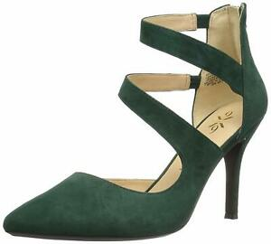 Nine West Womens Florent Closed Toe Ankle Strap Classic, Dark Green, Size 7.5