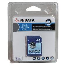 Ridata (Ritek) SD 8GB Class 4 Lightning Series SDHC Flash Memory Card