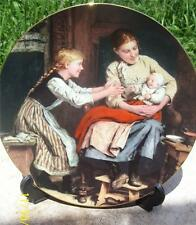 LANGETHAL SWISS CHINA 'THE FIRST SMILE' COLLECTOR PLATE BY ALBERT ANKER