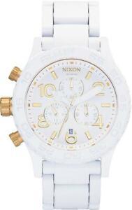 NIXON 42-20 CHRONO ( ALL WHITE / GOLD ) (H)