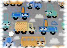 Kuschelnicky Fahrzeuge Kinderstoff grau Fleece Plüsch für Jungs 50 cm