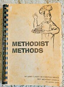 METHODIST METHODS CHURCH IOWA VINTAGE 1963 SPIRAL COOKBOOK LOCAL COOK BOOK