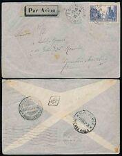 France 1932 argentina airmail simple 10F affranchissement... rosario + 368 en diamant