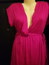 New Merona Cover Up Lightweight Side Ties Swim Dress sz Large Faux Wrap Pink