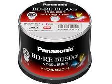 Panasonic BD-RE DL 2x Speed Inkjet Printable Rewritable Bluray Discs Japan Made