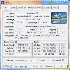 Intel Xeon E5-2670 v2 ES QDNR 2.3GHz 10C LGA2011 support C602 X79 i7-4930K 4960X