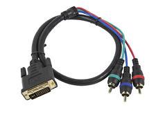 Monoprice 2ft DVI-I to 3 RCA Component  --  Video Cable -- (DVI-I - 3-RCA)  3868