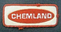 CHEMLAND EMBROIDERED SEW ON ONLY PATCH HAT FARM ADVERTISING UNIFORM 4 x 1 1/2""