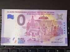 BILLET EURO SOUVENIR 2021-2 ALLEMAGNE 30 JAHRE FREUNDESKREIS SCHLOSSER