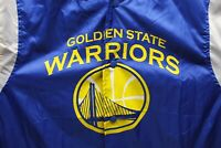 Golden State Warriors Windbreaker Warm-Up Button Down Snap Jacket XXL New W. Tag