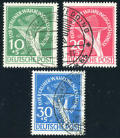 BERLIN 1949, MiNr. 68-70, sauber gestempelt, gepr. Schlegel, Mi. 600,-