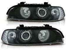 BMW E39 1995-1999 2000 2001 2002 2003 FARI ANTERIORI LPBM09 ANGEL EYES NERO