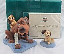 """WDCC """"Old Dog New Tricks""""and """"Playful Pup"""" from Lady and the Tramp in Box COA"""