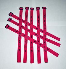 Woven Jesus Religious WWJD (12/Pack) Bracelets Fundraiser Wristbands - Hot Pink