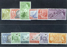 BERMUDA 1953 DEFINITIVES SG135/144 BLOCKS OF 4 MNH