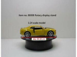 "Rotary Display Turntable 2 Speed Mirror Finish 8"" 1:24 WT88008"