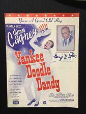 Vintage Vogel Yankee Doodle Dandy Sheet Music James Cagney Gerige M Cohan Visual